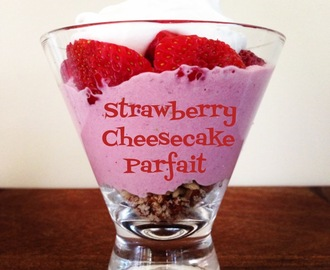Vegan Strawberry Cheesecake Parfait