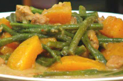 HOW TO COOK GINATAANG SITAW AT KALABASA