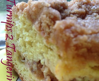 Rhubarb-Orange Coffee Cake