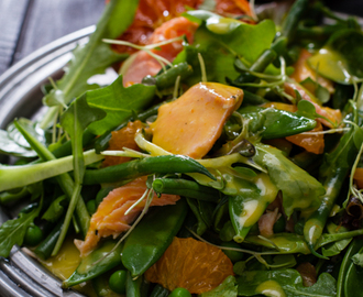 Salmon Salad with ClemenGold & Ginger Dressing