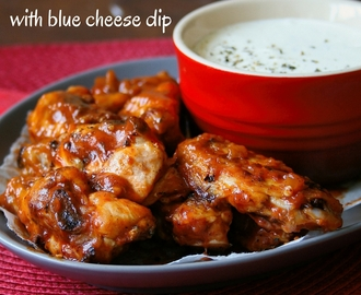PEPPADEW® HOT WINGS with BLUE CHEESE DIP