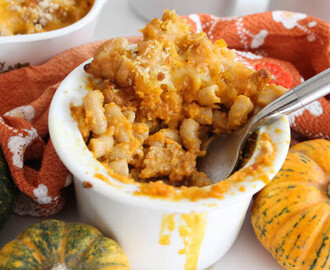 Pumpkin Mac and Cheese with Linguica