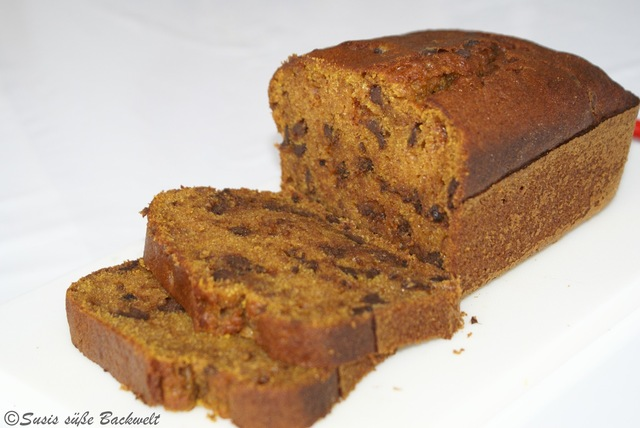 Kürbiskuchen - Pumpkin Chocolate Chip Bread