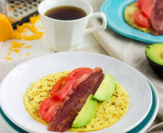 Egg Breakfast Wraps with Bacon, Avocado and Tomato {Gluten Free, Low Fat, High Protein, Low Carb, Super Simple|