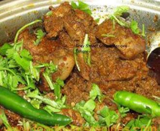 CURRIED CHICKEN LIVERS