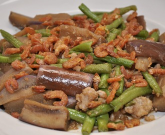 Stir-Fried Long Bean And Eggplant