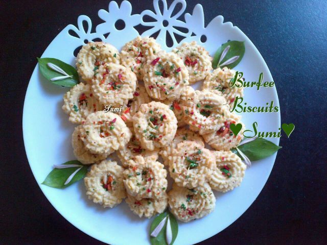 Burfee Biscuits