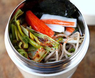 Soba Noodles with Leeks & Crab Sticks