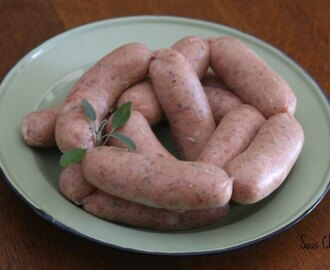 Homemade Sage & Onion Pork Sausages
