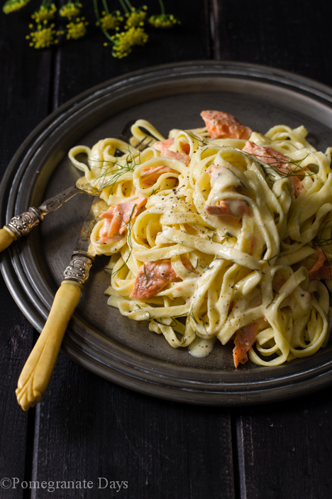 Salmon Pasta & Lemon Cream Sauce