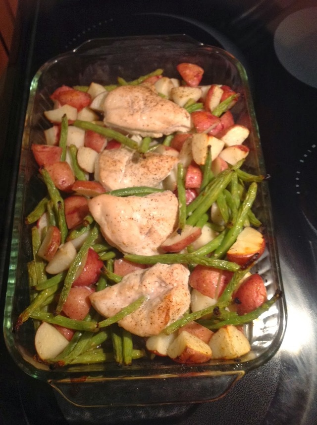 Garlic & Lemon Chicken with Red Potatoes and Green Beans