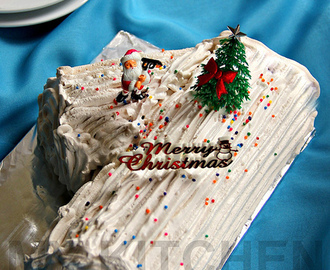 Chocoate Yule Log Cake [Merry Christmas!]