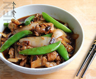 Stir-Fried Pork With Ginger And Preserved Soy Bean [Steamed Rice vs Noodles ]