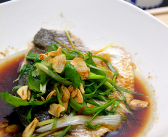 Cantonese Style Steamed Barramundi [Tasty and Healthy]