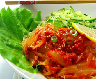 Cold Kimchi Noodles [A Summery Dish]