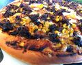 Pan pizza med pulled beef
