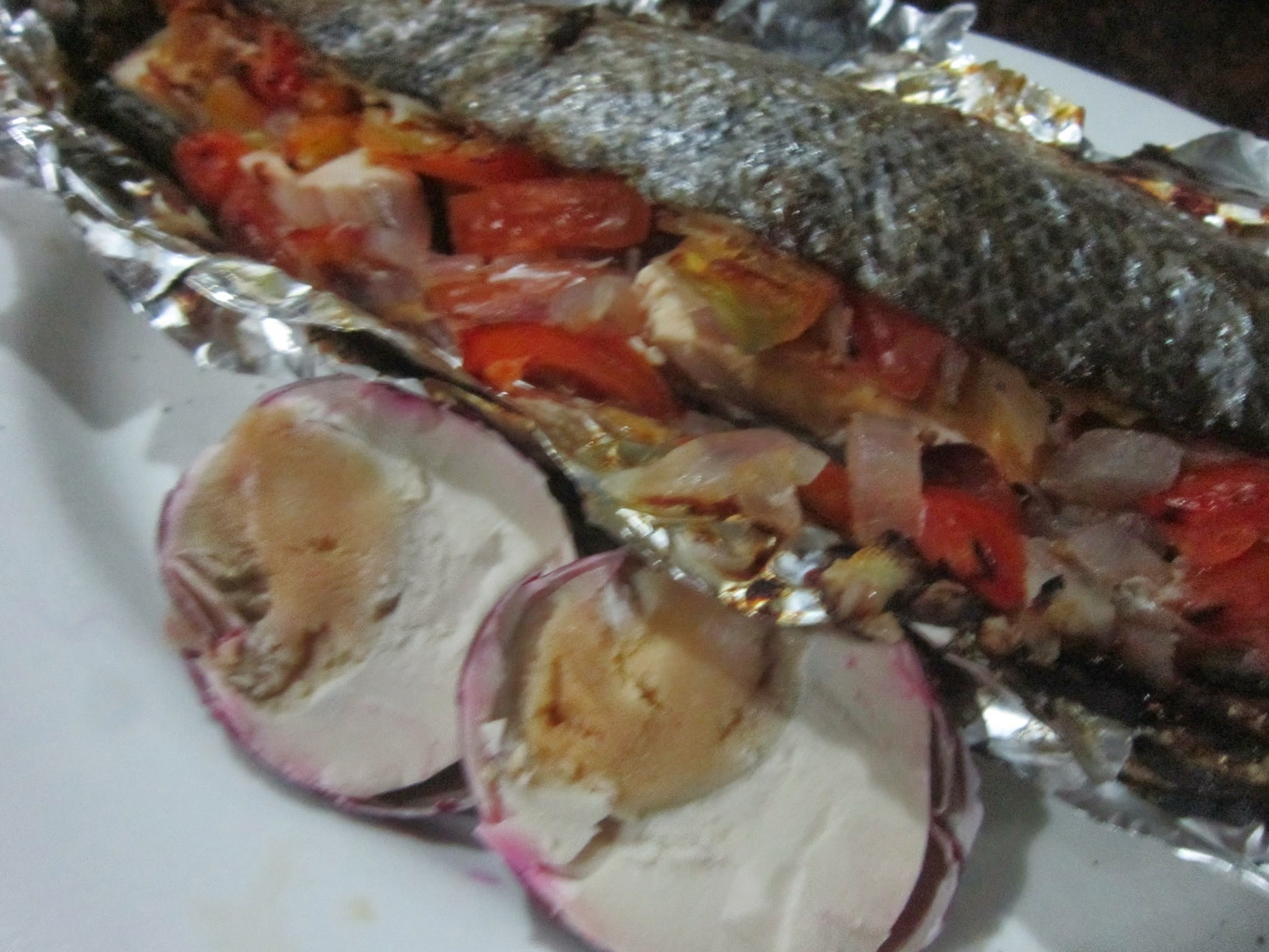 BROILED BANGUS with SALTED EGG