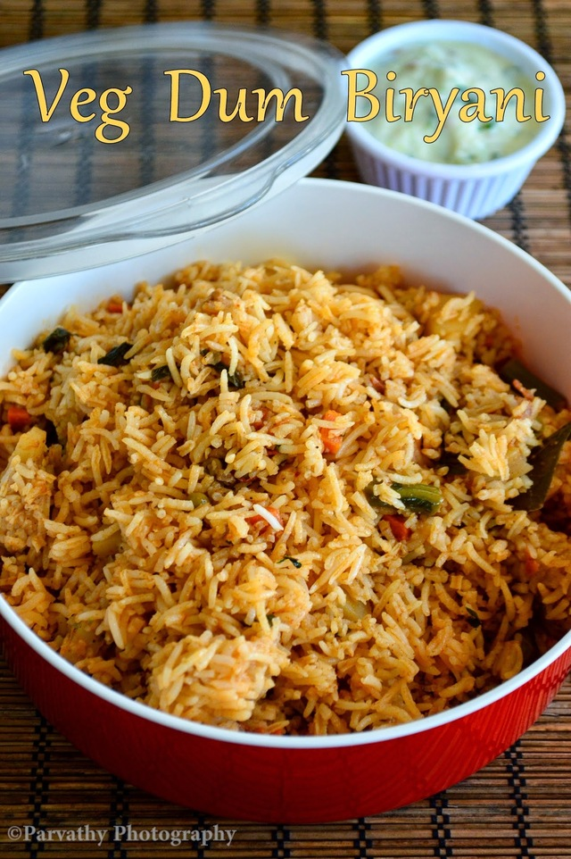 Vegetable Dum Biryani | Veg Biryani Recipe