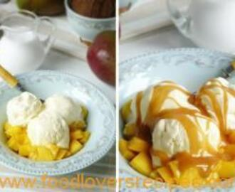 DESSERT WITH MANGO AND COCONUT CARAMEL