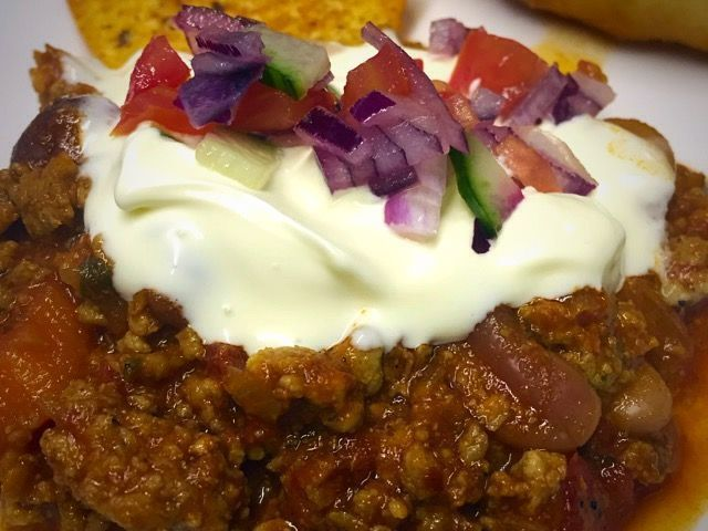 Mexican mince chilli corne | adapted from the net