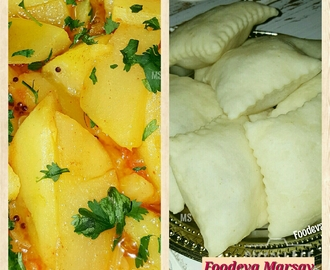 Aloo Puri (Potato and Puffed Indian Bread)