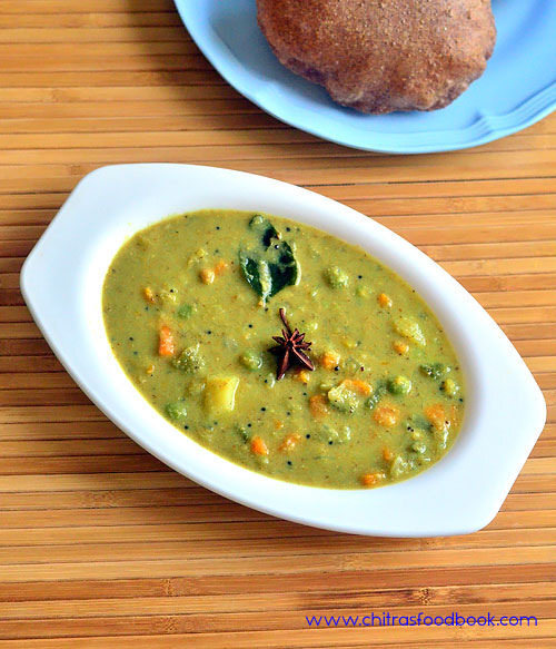 Vegetable Sagu Recipe – Karnataka Style Saagu Recipe - Side Dish For Poori, Set Dosa