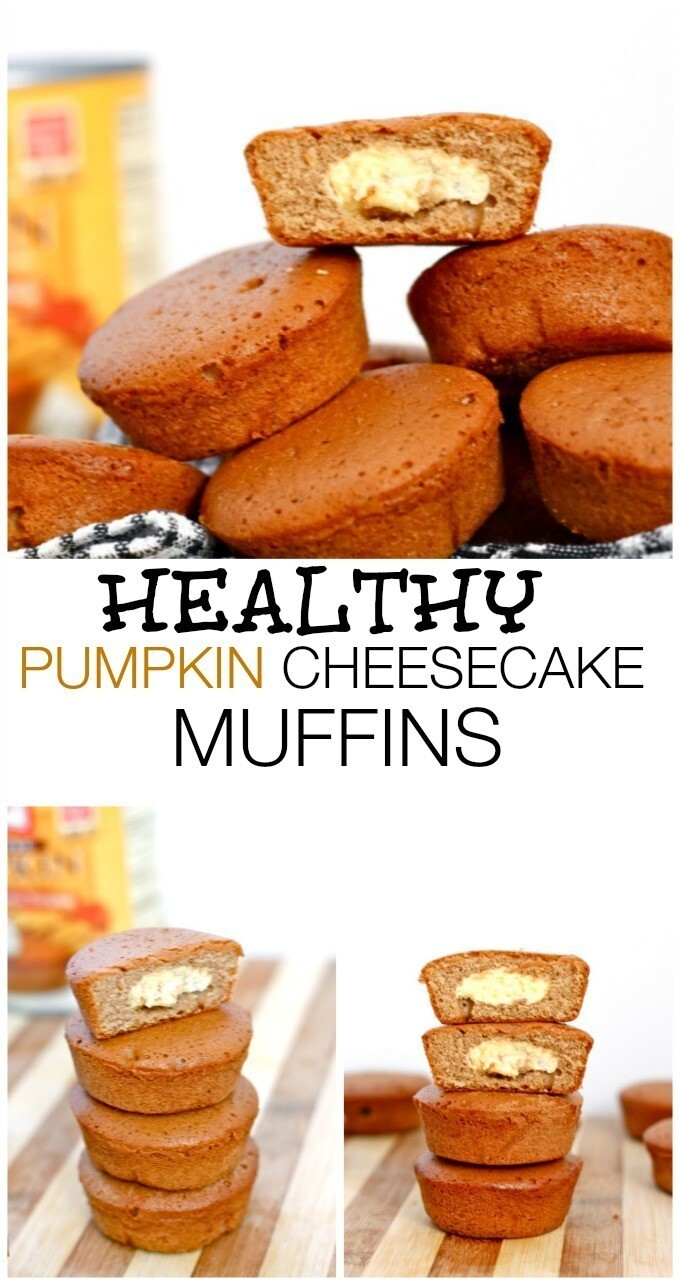 Healthy Pumpkin Cheesecake Muffins