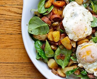 SPINACH AND POTATO ( breakfast ) Hash