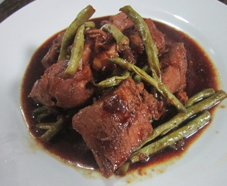 PORK and STRING BEANS ADOBO with OYSTER SAUCE