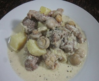 CREAMY BEEF MUSHROOM and POTATOES