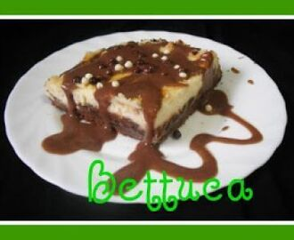 Tarta de queso fresco y chocolate