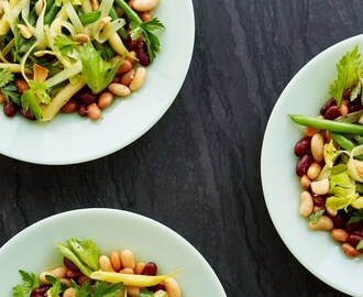 Five-Bean Salad with Smoked Paprika Vinaigrette