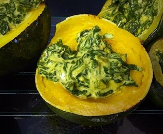 Creamy Spinach stuffed gem squash | my version