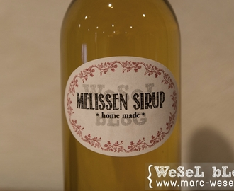 Melissen Sirup – home made