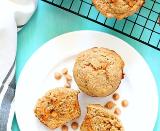 Healthy Whole Wheat Butterscotch Carrot Muffins
