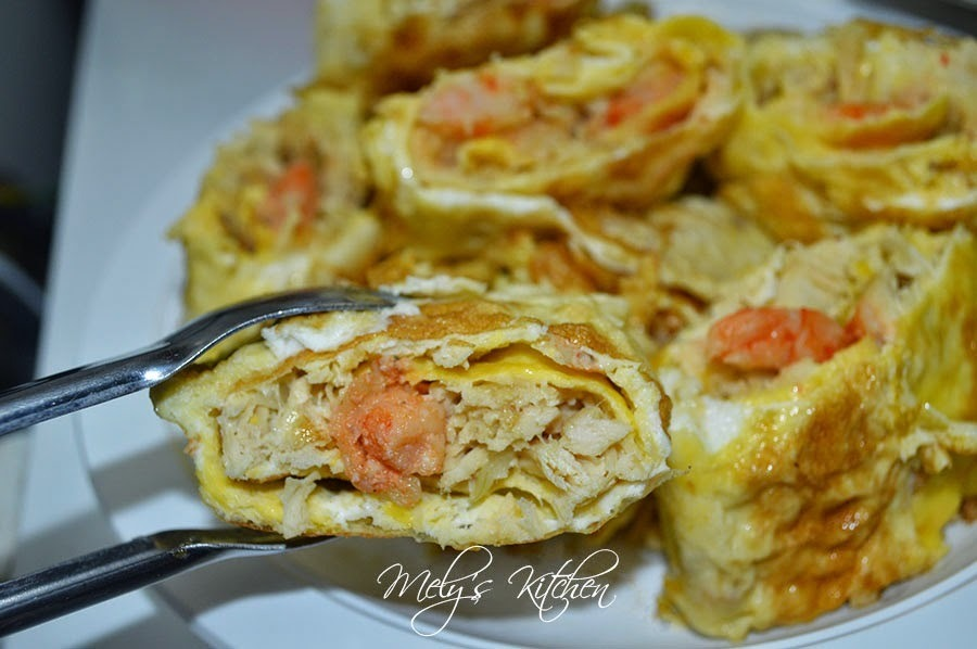 Chicken and Shrimp Omelette