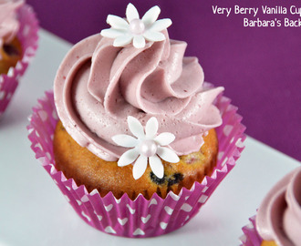 Very Berry Vanilla Cupcakes