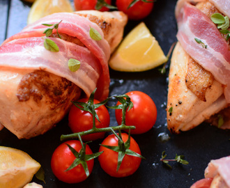 Tray-Baked Chicken with Vine Roasted Tomatoes