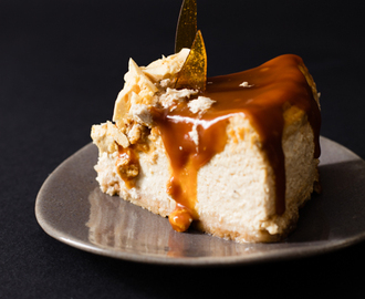 Halva & Rooibos Cheesecake with Caramel Topping