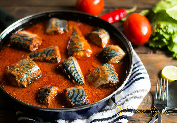 Mackerel Fish Stew - Nigerian Titus Stew