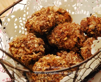 Fried Beef Meatballs (with bamboo shoots)