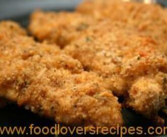 MOIST CHEDDAR-GARLIC OVEN FRIED CHICKEN BREASTS