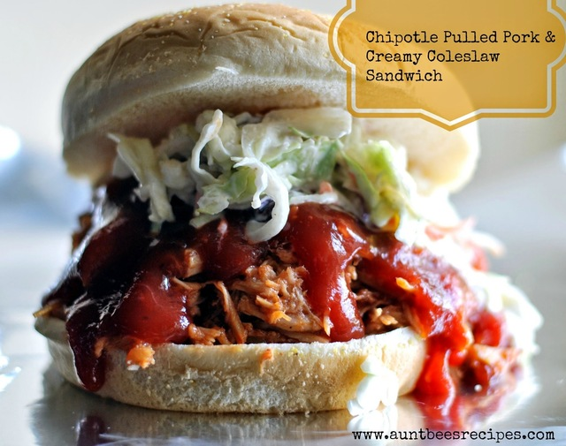 Chipotle Pulled Pork & Creamy Coleslaw Sandwich
