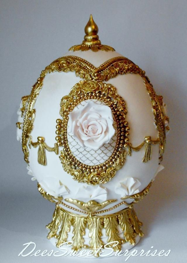 My Fabergé Sugar Egg - Cake by Dee | Cakes & Cake Decorating ~ Daily Inspiration & Ideas | Pinterest | Egg cake, Sugar eggs and Egg