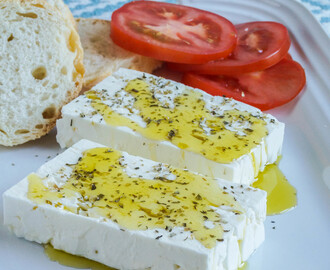 Feta with Oregano and Olive Oil and a Giveaway!