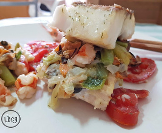 MERLUZA RELLENA DE MARISCO/ HAKE STUFFED WITH SEAFOOD
