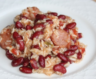 Crockpot Creole Sausage with Red Beans and Rice