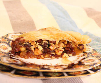 Chocolate Hazelnut Baklava with Orange Bourbon Honey