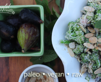 Toasted Almond Broccoli Fig Salad {paleo, vegan and raw}