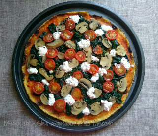 Pizza vegetal (o pizza coliflor)